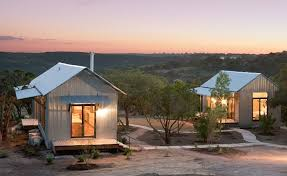 above made from a simple kit of factory built parts porch house buildings by san antonio texas based lake flato architects are made of corrugated metal