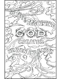 Coloring Pages Creation Coloring Sheets 7 Days Of Pages For School
