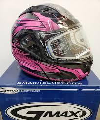 Gmax Gm64s Carbide W Dual Lens Modular Full Face Snow Helmet Xs Med Bl Pink