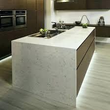 quartz countertop overhang faucet