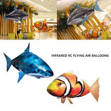 <b>Remote</b> Control Shark Toys <b>Flying</b> Air Swimming <b>Fish Infrared</b> RC ...