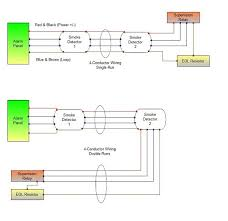 troubleshooting smoke alarm wiring at the detectors system sensor 4 wire smoke detector diagrams