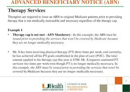 Medicare Claim Form Magnificent ADVANCED BENEFICIARY NOTICE ABN OF NONCOVERAGE TRAINING Medical