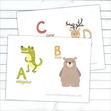 Nursery A Z Animal Alphabet Flash Card Set Editable Flashcard