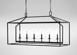 new rectangular chandelier with linen shade new 6 lamp