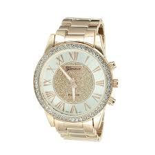 amazon com r numeral dial watch mens geneva platinum rose amazon com r numeral dial watch mens geneva platinum rose gold tone lab diamond bezel watches