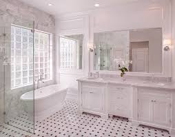 white carrara marble bathroom. Marble Basketweave Tile Floor White Carrara Bathroom