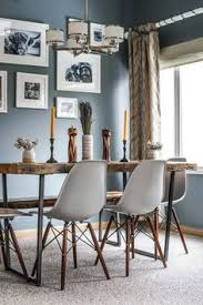 rustic dining table or kitchen table with reclaimed wood top and steel u base choice of size wood thickness finish