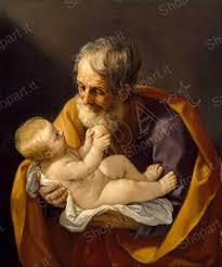 Guido Reni - San Giuseppe - Quadro Stampa su Tela, Poster, Tavola