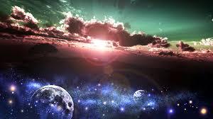 太陽の光と宇宙の画像