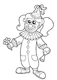 Clown Kleurplaat
