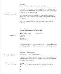 One Page Resume Template Word Stunning Single Page Resume Template Free Pingfinco