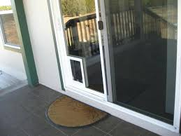 sliding door with dog door screen