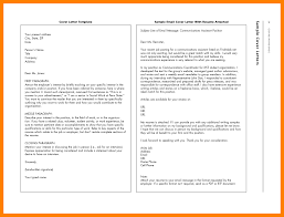How To Send Resume Via Email Cover Letter Samples Cover Letter