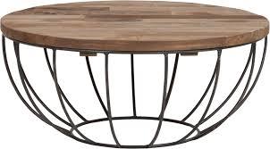 coffee table madison black frame 35xØ80 cm