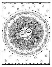 Sun Digitale Di Mandala Da Colorare Pagina Istantanea Etsy