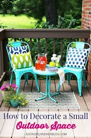 small deck furniture. how to decorate a small outdoor space deck furniture l