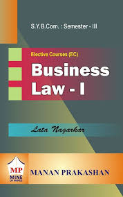Business Law Business Law I Sybcom Semester Iii
