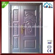 exterior double doors. Metal Double Doors Exterior Safety Wrought Iron Front Door Designs Hollow