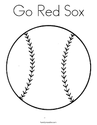 Small Picture Go Red Sox Coloring Page Twisty Noodle