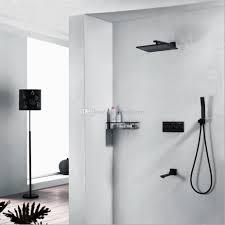 Duschkopf Wasserhahn 250 X 250 Quadratisch Regendusche Duschkopf Mit Drei Runden Griffen Platz Panel Controller 3 Wasserdurchfluss Duschsystem