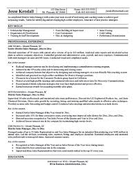 Area Sales Manager Resume The Sales Manager Resume Should Have A Great Explanation And