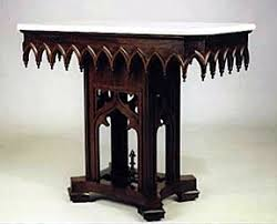 A Gothic Revival table.