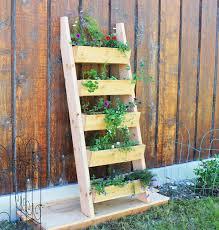 cedar vertical tiered ladder garden planter