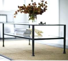 pottery barn tanner table iron and glass sofa table with pottery barn tanner rectangular coffee table