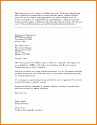 5 Block Form Business Letter Example Report Examples