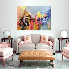 no framed wall art picture for living room modern abstract oil painting on canvas offiece decoration 100 hand painted pictures in painting calligraphy  on modern framed wall pictures with no framed wall art picture for living room modern abstract oil