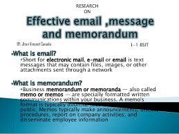 Email Memorandum Format Effective Email Memorandum And Messages