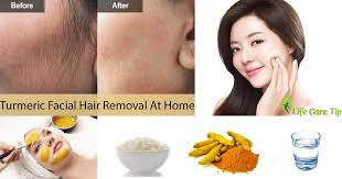 best turmeric hair removal at home