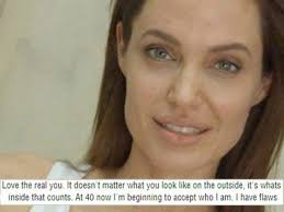 the 40 year old humanitarian confessed that she has finally embraced ageing and all