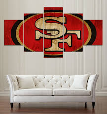 ... San Francisco 49ERS Of 5 Pieces Canvas Wall Art For Living Room - HD  Quality ...