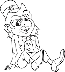 Small Picture Free Printable Leprechaun Coloring Page for Kids 4