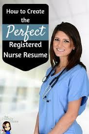 Best 25 Registered Nurse Resume Ideas On Pinterest Nursing