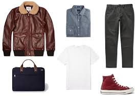relaxed office leather jacket look