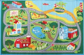 city road roads kids rug 100x150cm childrens baby play mat tracks