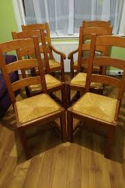 barker and stonehouse solid oak farmhouse french ladder 4 dining chairs