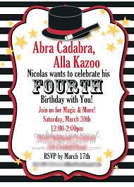 magic birthday party invitations com magic birthday party invitations how to make your own birthday invitations using word 20
