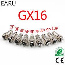 <b>1set GX16</b>-<b>2/3/4/5/6/7/8/9</b>/10 <b>Pin</b> Male Female 16mm Wire M16 ...