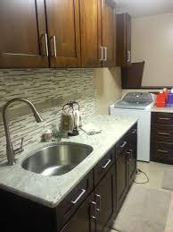 River White Granite Kitchen White Cabinets What Color Granite Countertop And Backsplash