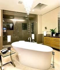 chandelier over bathtub lighting bathroom f size chandelie