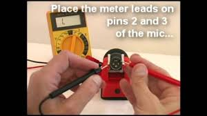 how to test a microphone with a multimeter technical training for ians