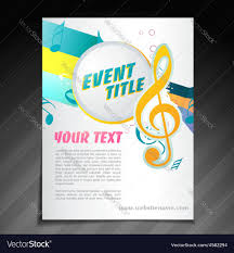 Music Brochure Music brochure design Royalty Free Vector Image 1