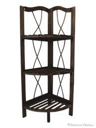 Dark Wood Corner Shelves Beauteous Amazon American Chateau Free Standing Dark Wood Kitchen