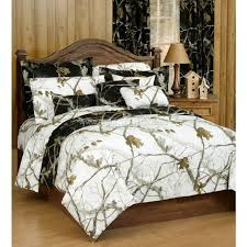 realtree ap black and white camo comforter