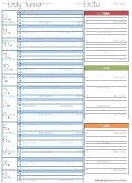 Business Day Planners Daily Day Planner Organizer Printable Pdf Organization