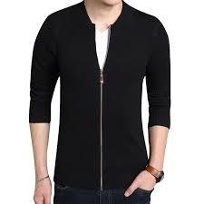 Oeak, осенний <b>мужской свитер</b> на молнии с круглым вырезом ...